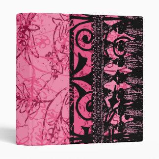Carpeta rosada de la flor de lis
