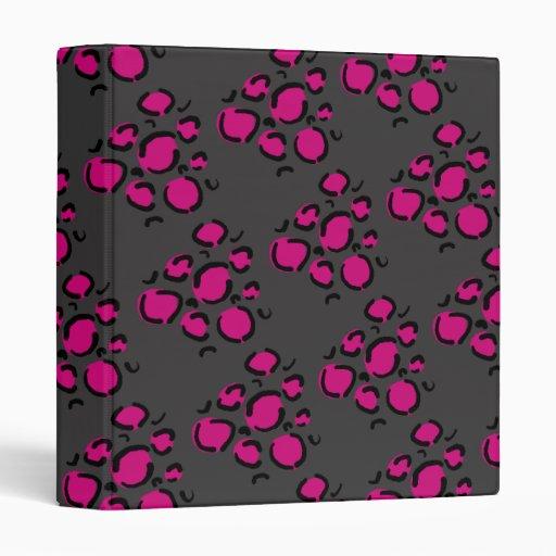 Carpeta rosada de la impresión del guepardo