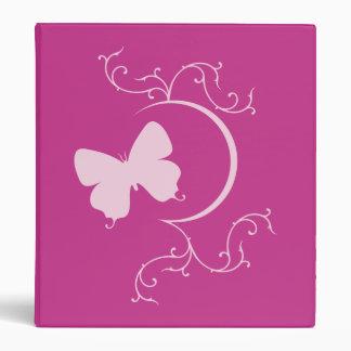 Carpeta rosada de la mariposa
