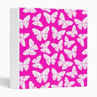 Carpeta rosada de las mariposas