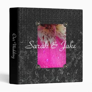 Carpeta rosada del boda de la orquídea