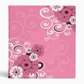Carpeta rosada del boda de los remolinos y de las