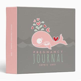 Carpeta rosada del diario del embarazo de los