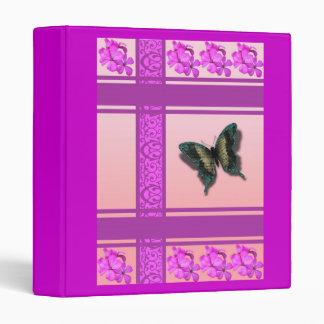 Carpeta rosada del diseñador de la mariposa