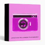 Carpeta rosada del negocio de la fotografía de la