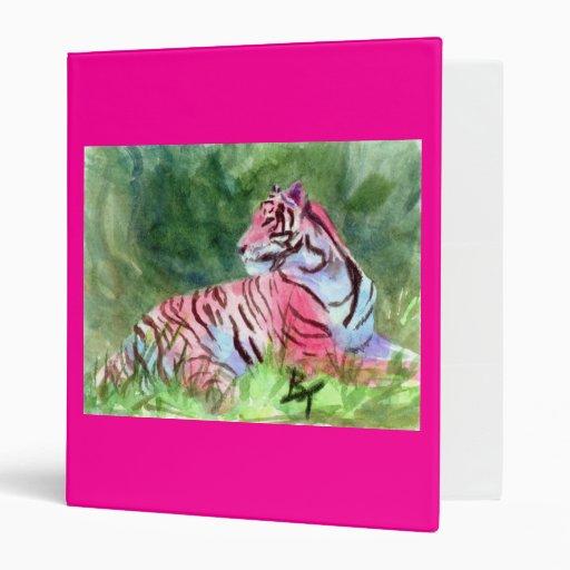 Carpeta rosada del tigre