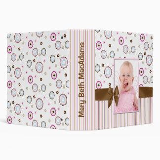 Carpeta rosada elegante del libro de recuerdos del