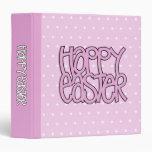 Carpeta rosada feliz de Pascua