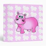 Carpeta rosada linda del hipopótamo del bebé