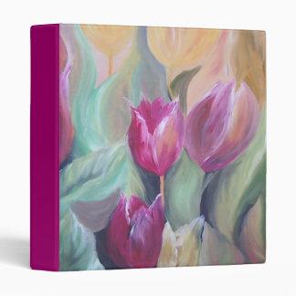 carpeta rosada oscura de los tulipanes