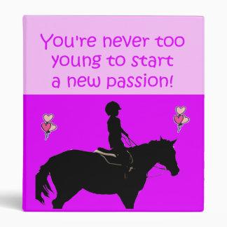 Carpeta rosada y púrpura adorable de Avery del