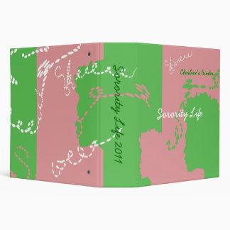 """Carpeta rosada y verde 2"""" de la hermandad de mujer"""