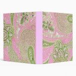 Carpeta rosada y verde de Paisley