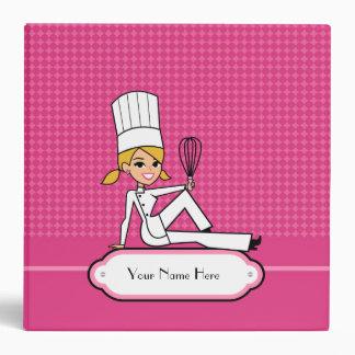Carpeta rubia de la receta del chica del panadero