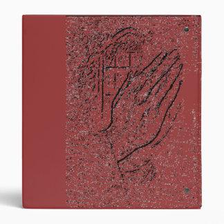 Carpeta rústica de rogación de las manos