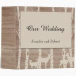 Carpeta rústica del boda de los árboles y de los c