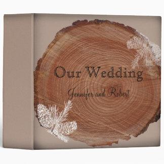 Carpeta rústica del boda del país de los anillos