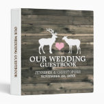 Carpeta rústica del Guestbook del boda del dólar y