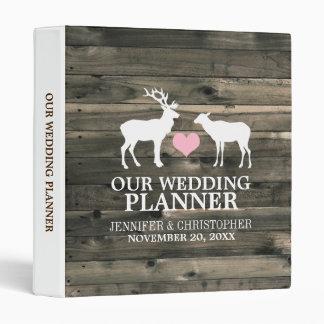 Carpeta rústica del planificador del boda del dóla