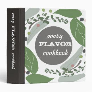 Carpeta sabrosa mezclada del libro de cocina de la