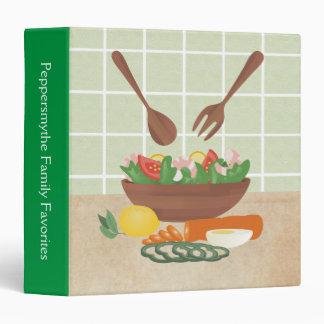 Carpeta sana de la receta de la comida de la ensal