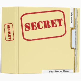 Carpeta secreta del sobre - carpeta de la receta d