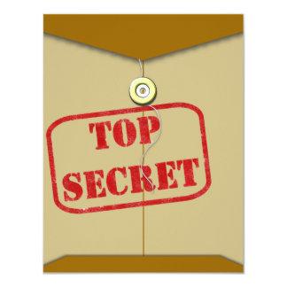 Carpeta secreta para los cocineros secretos invitaciones personalizada