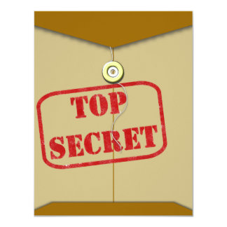 """Carpeta secreta para los cocineros secretos invitación 4.25"""" x 5.5"""""""