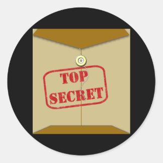 Carpeta secreta para los cocineros secretos pegatina redonda
