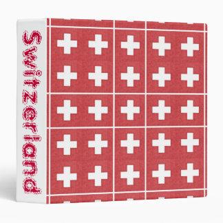 Carpeta suiza tejada de la bandera