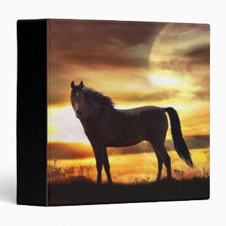 Carpeta surrealista del caballo y de la luna