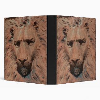 Carpeta tallada león del cuaderno de la cara del