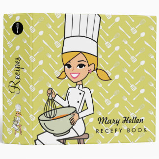 Carpeta temática de la receta del cocinero del pan