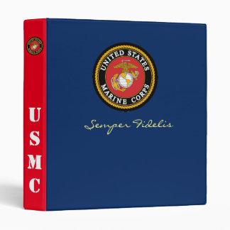 Carpeta temática de los azules de vestido del USMC
