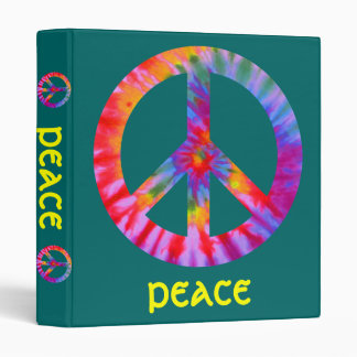 Carpeta teñida lazo del signo de la paz