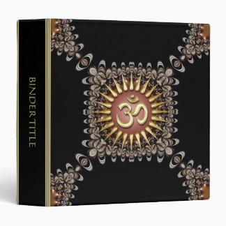 Carpeta terrosa del álbum de OM del oro del cordón