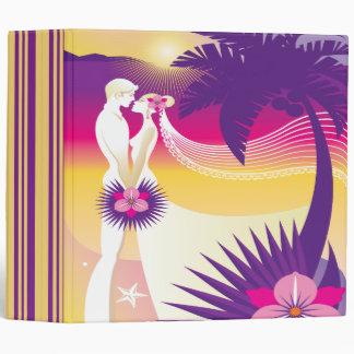 Carpeta tropical de la foto del planificador del b