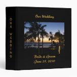 Carpeta tropical del álbum del boda del destino