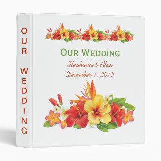 Carpeta tropical del boda del hibisco