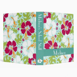 Carpeta tropical del hibisco