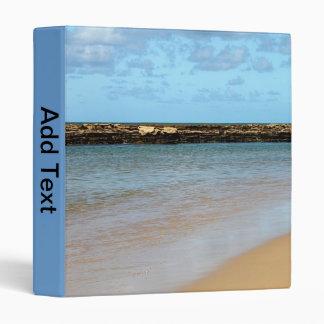 Carpeta tropical del paraíso 3-Ring de la playa