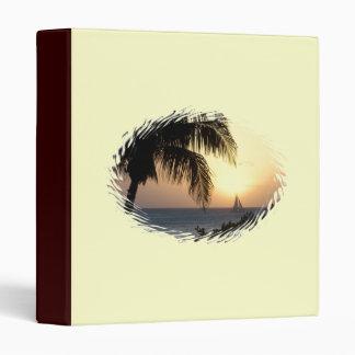 Carpeta tropical del velero de la puesta del sol