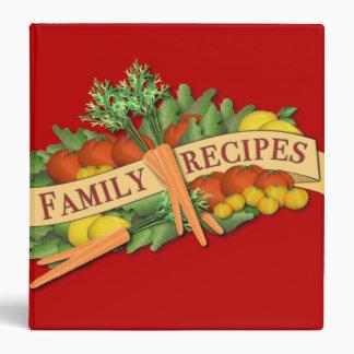 Carpeta vegetal de la receta de la familia del
