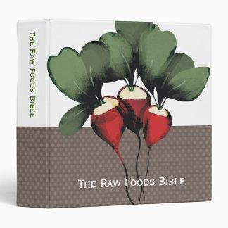 carpeta vegetal del libro de cocina de la receta