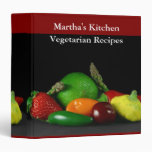 Carpeta vegetariana del medio de las recetas