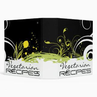 Carpeta vegetariana floral abstracta de la receta