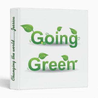 Carpeta verde de Avery que va