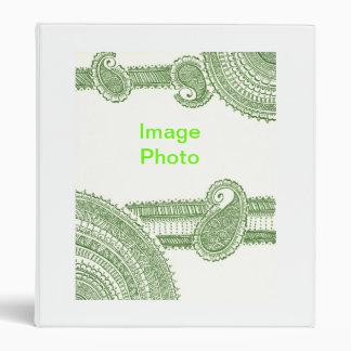 Carpeta verde de la alheña de Mehndi