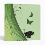 Carpeta verde de la fantasía de la mariposa