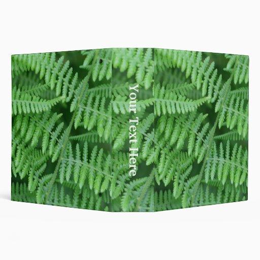 Carpeta verde de la naturaleza de los helechos